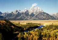 The Snake River and Grand Tetons