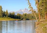 Rafting Down The Snake River