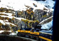 Alaska Railroad in the Mountains
