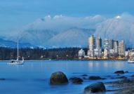 Vancouver, with Grouse Mountain