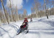 Snowmobile Rides Near Sacacomie Lake